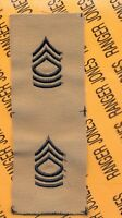 US Army Enlisted MASTER SERGEANT MSG E-8 desert DCU rank patch set