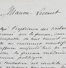 Manuscrit de la préface de Manon Lescaut, par Maupassant