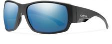 NEW Smith Dockside Sunglasses-Matte Black-Chromapop Blue Polarized-SAME DAY SHIP