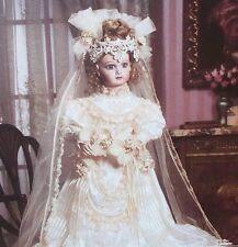 "NIB 1994 FRANKLIN MINT Bebe Jumeau BRIDE DOLL  34"" Long Wedding Veil Train COA"