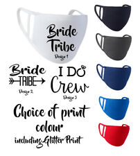 Wedding Face Masks Covering WASHABLE Hen Party Stag Do Party - Bride Groom
