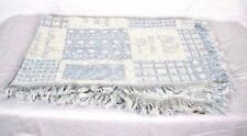 """Baby Boy Double Weave Blue 100% Cotton Throw Made in USA - """"Little Angel Boy"""""""