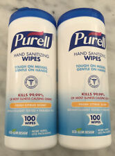 2Purell 100 Count Citrus Scent Wipe Canisters (200 Total)