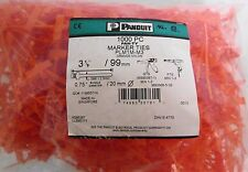 (≈950) Panduit PLM1M-M3 Orange Nylon Marker Ties