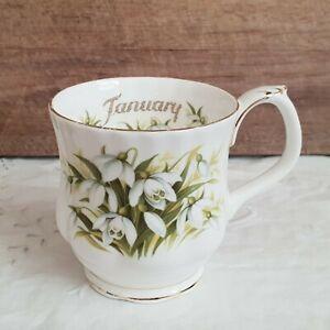 Royal Albert Flower of the Month ' January ' Coffee Mug Bone China England
