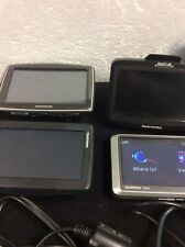 Lot Of 4 Name Brand Pre-owned Gps Wiith Some Access.
