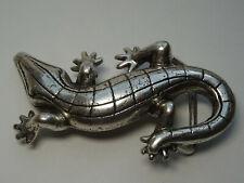 Vintage Gürtelschnalle Buckle Silber Schnalle Krokodil Echse Gürtel Accessoires