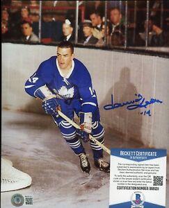 Dave Keon Ice Hockey Signed 8x10 Photo AUTO Autograph Beckett BAS COA