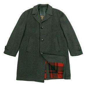 Men's Wool Loden Coat Lodenfrey Frey Munich Germany Overcoat Trench Jacket Sz 44
