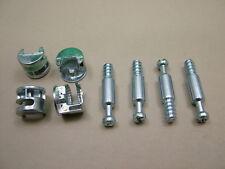 Cam lock & dowel flat pack furniture 4 each x camlocks 15mm cam 24mm dowel screw