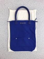 WANT Les Essentiels De La Vie Blue Gem Orly Canvas Leather Tote Bag - NEW