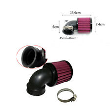 Universal 90° Angled Round Motorcycle Racer Inlet Cold Air Intake Filter 45-48mm