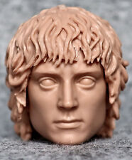 1/6 scale unpainted action figure head sculpt frodo lords of the ring asmus
