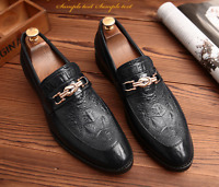Mens Dress Shoes Pointy Toe Casual Leather Formal Wedding Business Loafers New