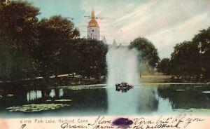 Hartford, Connecticut, CT, Park Lake, 1909 Vintage Postcard a3243
