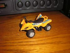 "1/43 ? 3 1/8"" ATV 4x4 Polaris Honda 4 wheeler Quad Orange with Pull Back Action"