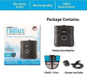 Thermacell LZ1 Rechargeable Radius Zone Mosquito Repellent - Black
