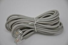2C Round 14ft 6P2C RJ11 Male Male Cable Snap In Off White