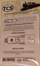 DCC Train Control Systems (TCS) T1, 2 Function, HO/OO Scale decoder