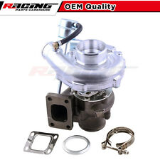 T04E T3/ T3 TURBO TURBOCHARGER 0.63 A/R INTERNAL WASTEGATE V-BAND DOWN PIPE