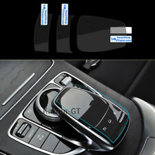 3x Mouse Touch Protective Film Stickers Center Console For Benz C E S V GLC GLE