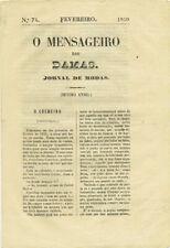Araujo: Quero e nao quero casar [in] 'O Mensageiro das Damas. Jornal 1859.