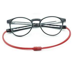 Click Magnet Reading Glasses Optics Adjustable Hanging Neck Magnetic Front Rim+1