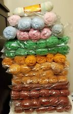 69 Spundola100% Dupont Acrylic yarn 3oz skeins NOS mutlicolors lot!