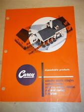 Philip Carey Catalog~Asbestos~Plastic/Cement Shingles~Fire-Chex/Ceramo~1952