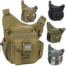 Waterproof DSLR Camera Shoulder Bag Padded Insert Tactical Military Bag Daypack