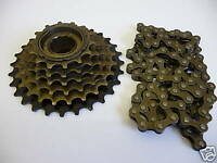6 SPEED BIKE CYCLE FREEWHEEL GEAR & CHAIN MOUNTAIN BICYCLE