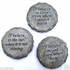 3 inspirational religious plaque molds plaster cement resin wax soap & more 5""