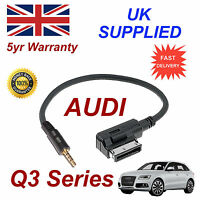 AUDI Q3 Series AMI MMI 4F0051510F Music Interface 3.5mm Jack input Cable