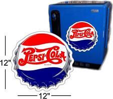 "12""  PEPSI CAP FOR SODA POP VENDING MACHINE COOLER OR GUMBALL"