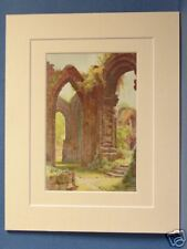 ST. JOHN'S RUINS CHESTER VINTAGE DOUBLE MOUNTED HASLEHUST PRINT c1930 10X8 RARE