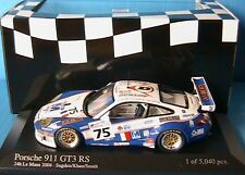 PORSCHE 911 GT3 RS #75 24H MANS 2004 SUGDEN KHAN SMITH MINICHAMPS 1/43 RACING
