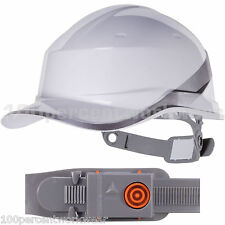 Delta Plus Venitex WHITE DIAMOND Hard Hat Safety Helmet Cap Hi Viz Vis Builders
