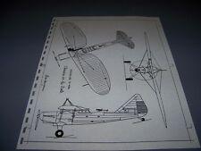 VINTAGE..1933 DOUGLAS O-43A...3-VIEWS/DETAILS... (515C)