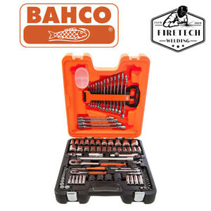 Bahco BAHS877 S87+7 Socket Set 94-Piece 1/4 and 1/2in Drive