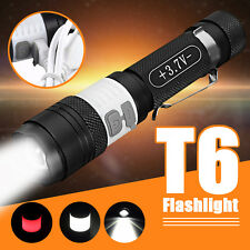 15000LM Waterproof Zoom T6 LED 3Modes Rechargeable Flashlight Torch Light + USB