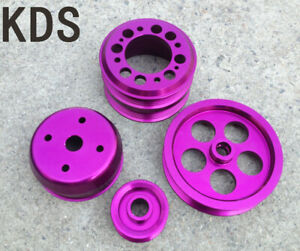 Underdrive pulley for 93-95 Mazda RX7 RX-7 1.3L Rotary FD3S 4pcs  Purple
