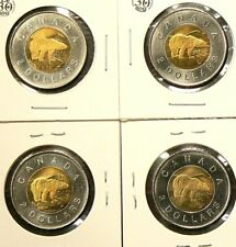 1996 Canada $2 Dollars Uncirculated from Roll Lot of 4 Coins #6067