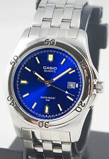 Casio MTP-1213A-2AV Men's Blue Analog Watch Steel Band Date Display Casual New
