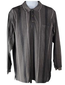 Knights Sportswear Size Large Long Sleeve Striped Polo Shirt