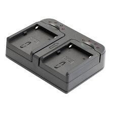 Cargador de doble canal para Sony serie (NP-F L Series) baterías simultáneamente