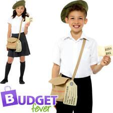 30s Wartime Instant Set Kids Fancy Dress British 40s Girls Boys Costume Kit New