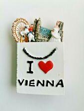 Austria I Love Vienna 3D Resin Tourist Souvenir Collectable Fridge Magnet