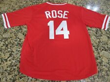 New Pete Rose #14 Retro Cincinnati Reds Red Pull-Over Baseball Jersey Mens XL 48