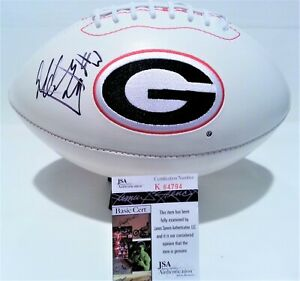 Todd Gurley Signed Football Autographed Georgia Bulldogs Dawgs JSA K64794 Rams