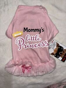 Paw NYC Dog Cat Pet tutu Tee Ruffle Dress Mommy's Princess Ballerina Birthday S
